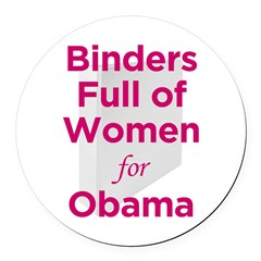 Binders Full of Women for Obama Round Car Magnet