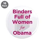 "Binders Full of Women for Obama 3.5"" Button ("