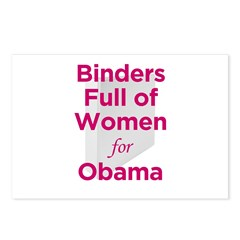Binders Full of Women for Obama Postcards (Package