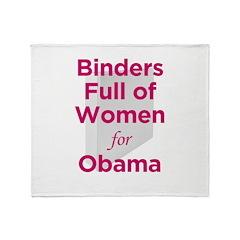 Binders Full of Women for Obama Throw Blanket