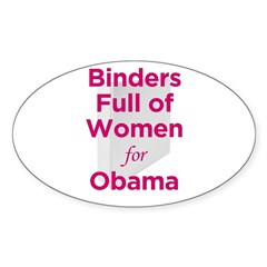 Binders Full of Women for Obama Decal