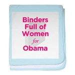 Binders Full of Women for Obama baby blanket
