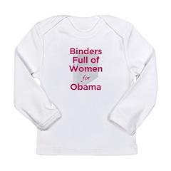 Binders Full of Women for Obama Long Sleeve Infant