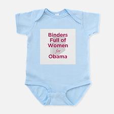 Binders Full of Women for Obama Infant Bodysuit