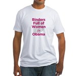 Binders Full of Women for Obama Fitted T-Shirt