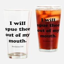 Revelation 3:16 Drinking Glass