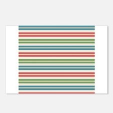 Horizontal Tropical Stripes Postcards (Package of