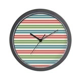 Beach blue stripe Wall Clocks
