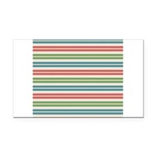 Horizontal Tropical Stripes Rectangle Car Magnet