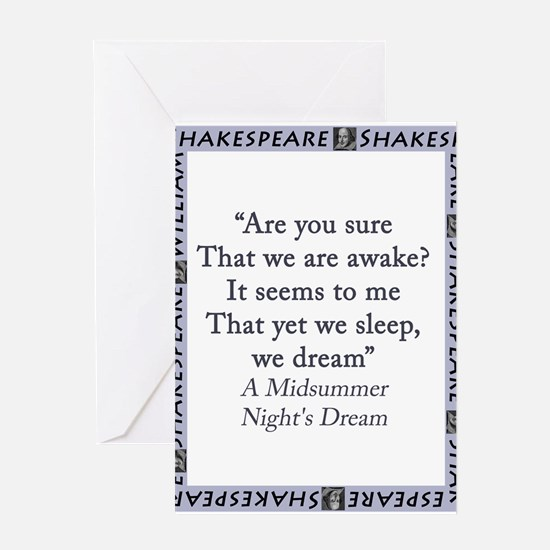 Are You Sure That We Are Awake? Greeting Card