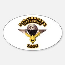 Airborne - Laos Sticker (Oval)