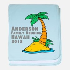 Personalized Family Reunion baby blanket