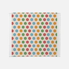 Tropical Polka Dots Throw Blanket