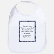 Are You Sure That We Are Awake? Cotton Baby Bib