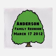 Personalized Family Reunion Throw Blanket