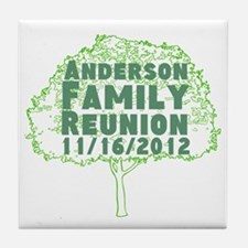 Personalized Family Reunion Tile Coaster