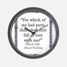 For Which of My Bad Parts Wall Clock