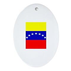 Venezuela Venezuelan Blank Fl Oval Ornament
