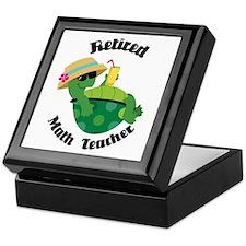 Retired Math Teacher Gift Keepsake Box