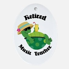 Retired Music Teacher Gift Ornament (Oval)