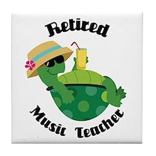 Retired Music Teacher Gift Tile Coaster