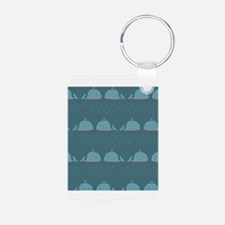 Nautical Whale Print Keychains