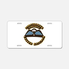 Airborne - UK Aluminum License Plate