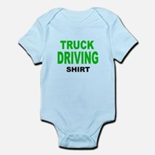 TRUCK DRIVING SHIRT .png Infant Bodysuit