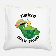 Retired NICU Nurse Gift Square Canvas Pillow