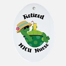 Retired NICU Nurse Gift Ornament (Oval)