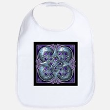 Silver & Purple Celtic Tapestry Bib