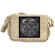 Silver & Purple Celtic Tapestry Messenger Bag