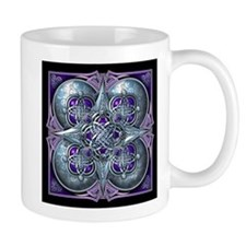 Silver & Purple Celtic Tapestry Mug