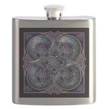 Silver & Purple Celtic Tapestry Flask