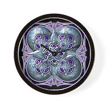 Silver & Purple Celtic Tapestry Wall Clock