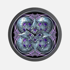 Silver & Purple Celtic Tapestry Wall Clock