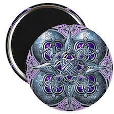 "Silver & Purple Celtic Tapestry 2.25"" Magnet (10 p"