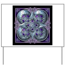 Silver & Purple Celtic Tapestry Yard Sign