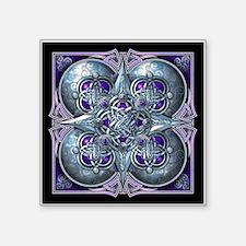 """Silver & Purple Celtic Tapestry Square Sticker 3"""""""