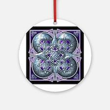 Silver & Purple Celtic Tapestry Ornament (Round)