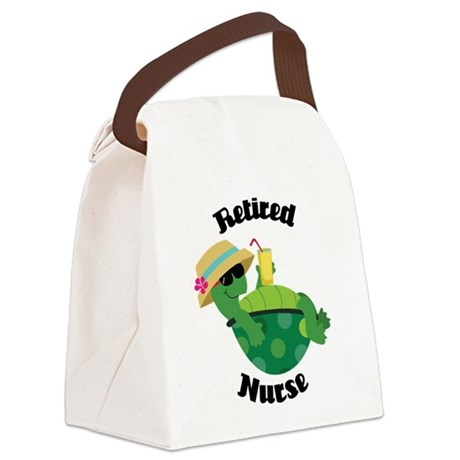 Retired Nurse Gift Canvas Lunch Bag
