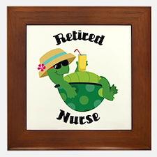 Retired Nurse Gift Framed Tile
