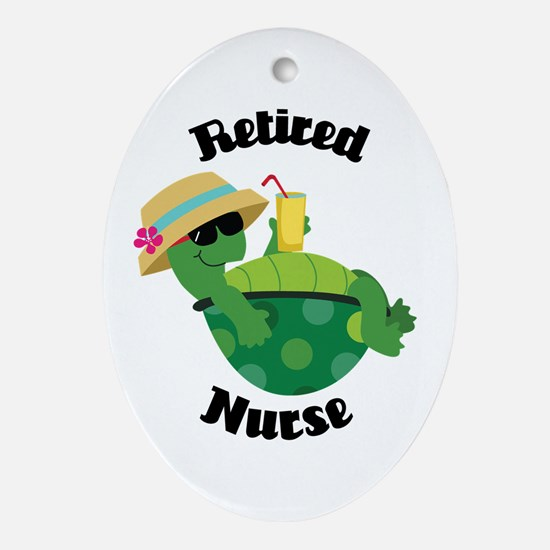 Retired Nurse Gift Ornament (Oval)
