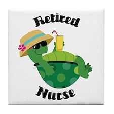 Retired Nurse Gift Tile Coaster