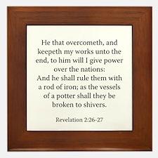 Revelation 2:26-27 Framed Tile