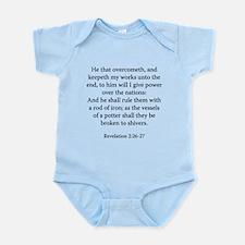 Revelation 2:26-27 Infant Bodysuit