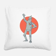 Tin Man Podcast Official Logo Square Canvas Pillow