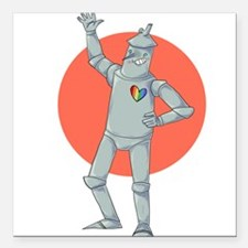 Tin Man Podcast Official Logo Square Car Magnet 3""