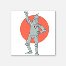 "Tin Man Podcast Official Logo Square Sticker 3"" x"