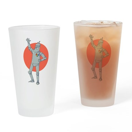 Tin Man Podcast Official Logo Drinking Glass